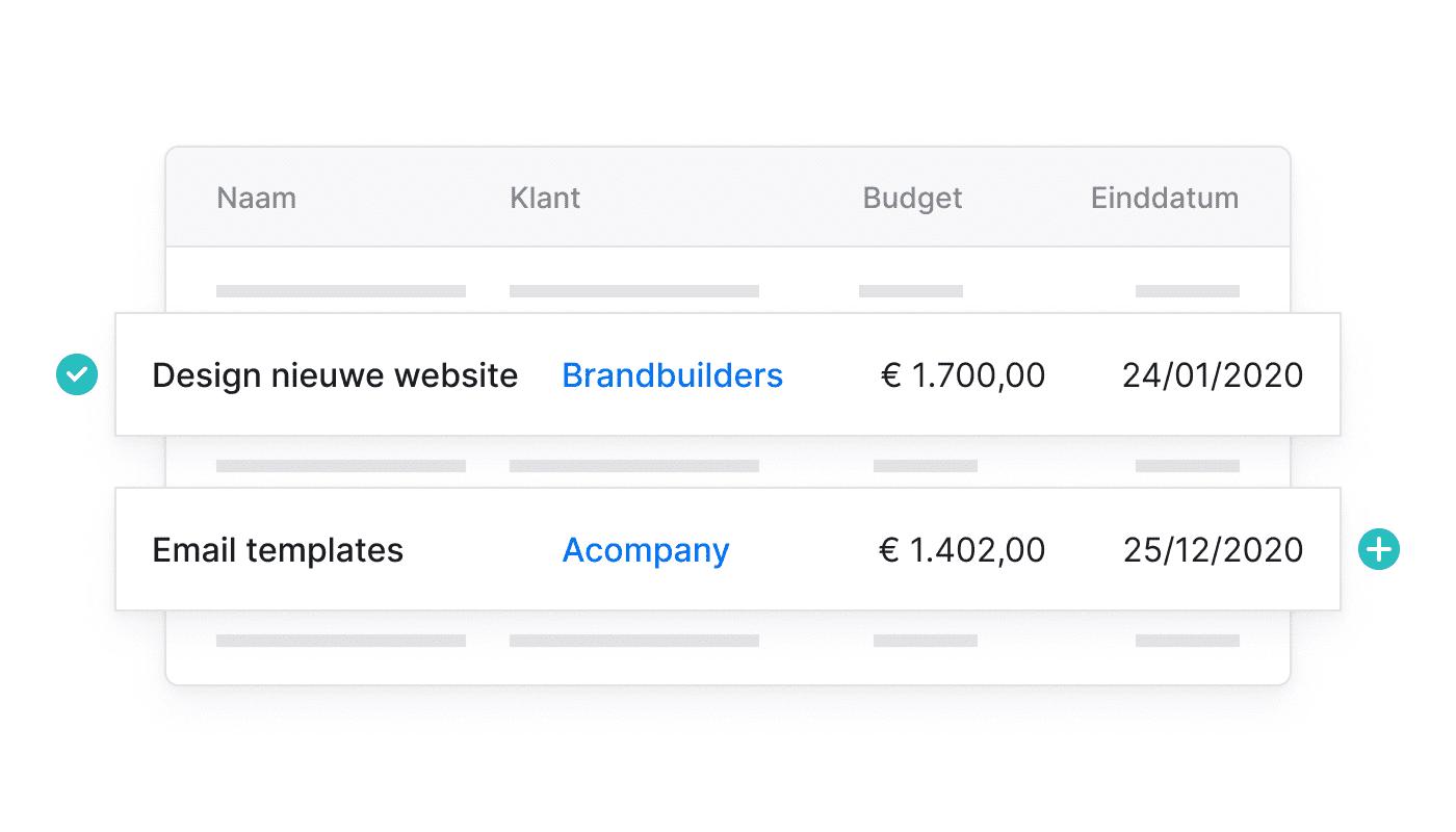 BE NL Maak eenvoudig projecten aan
