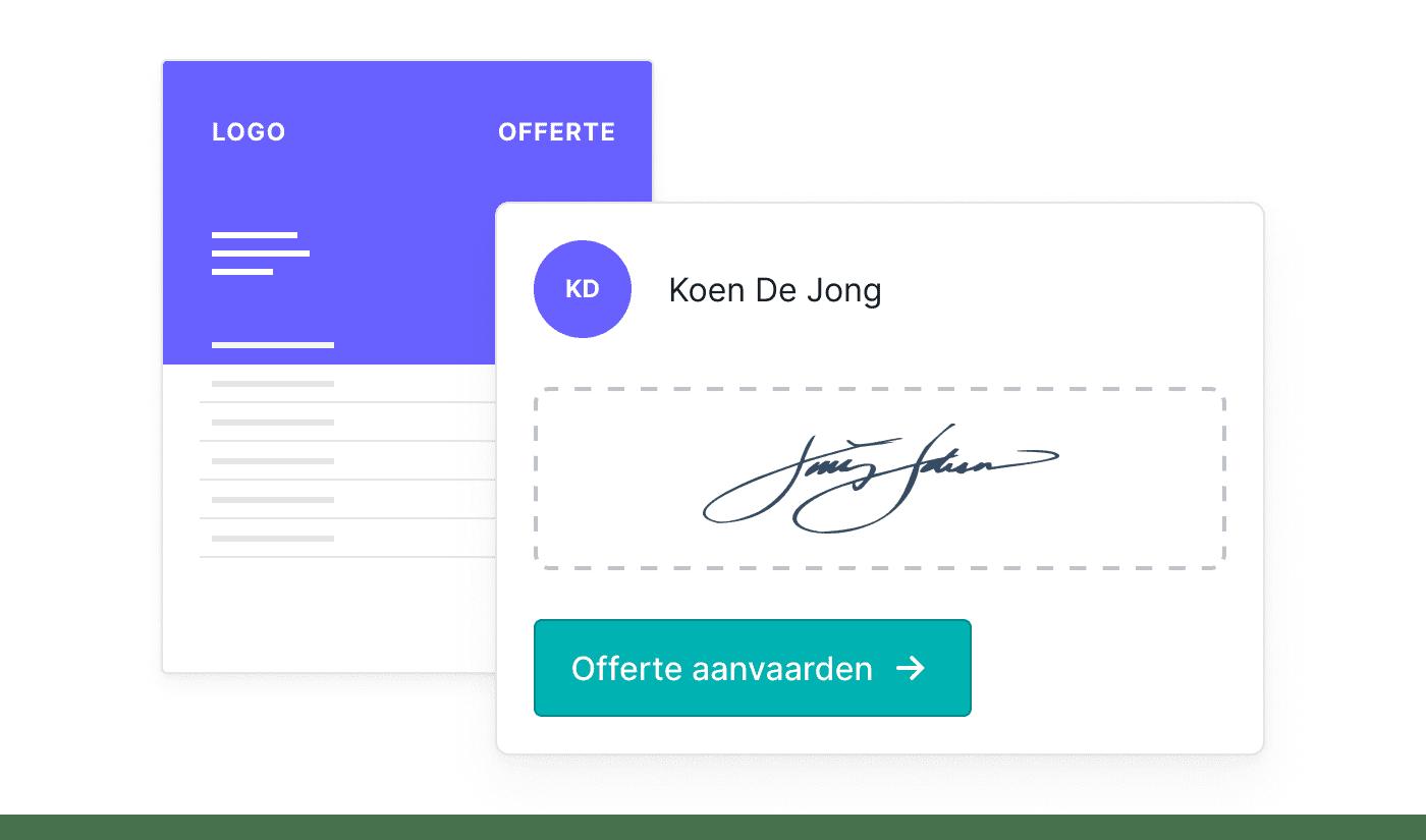 BE NL Offertes online laten ondertekenen