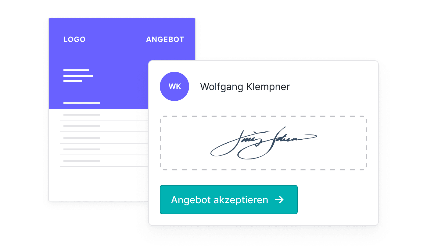 DE Offertes online laten ondertekenen