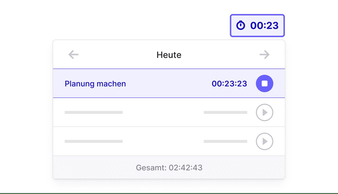 DE Registreer nauwgezet met de Time Tracker