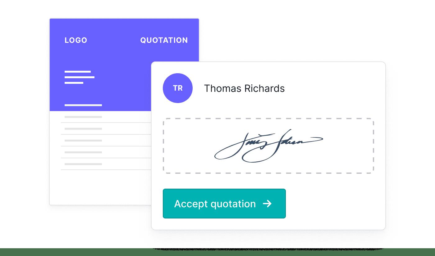 EN Offertes online laten ondertekenen