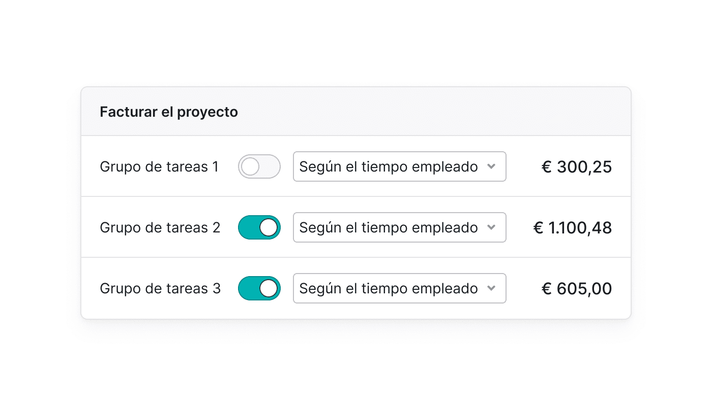 ES Facturen vanuit je project