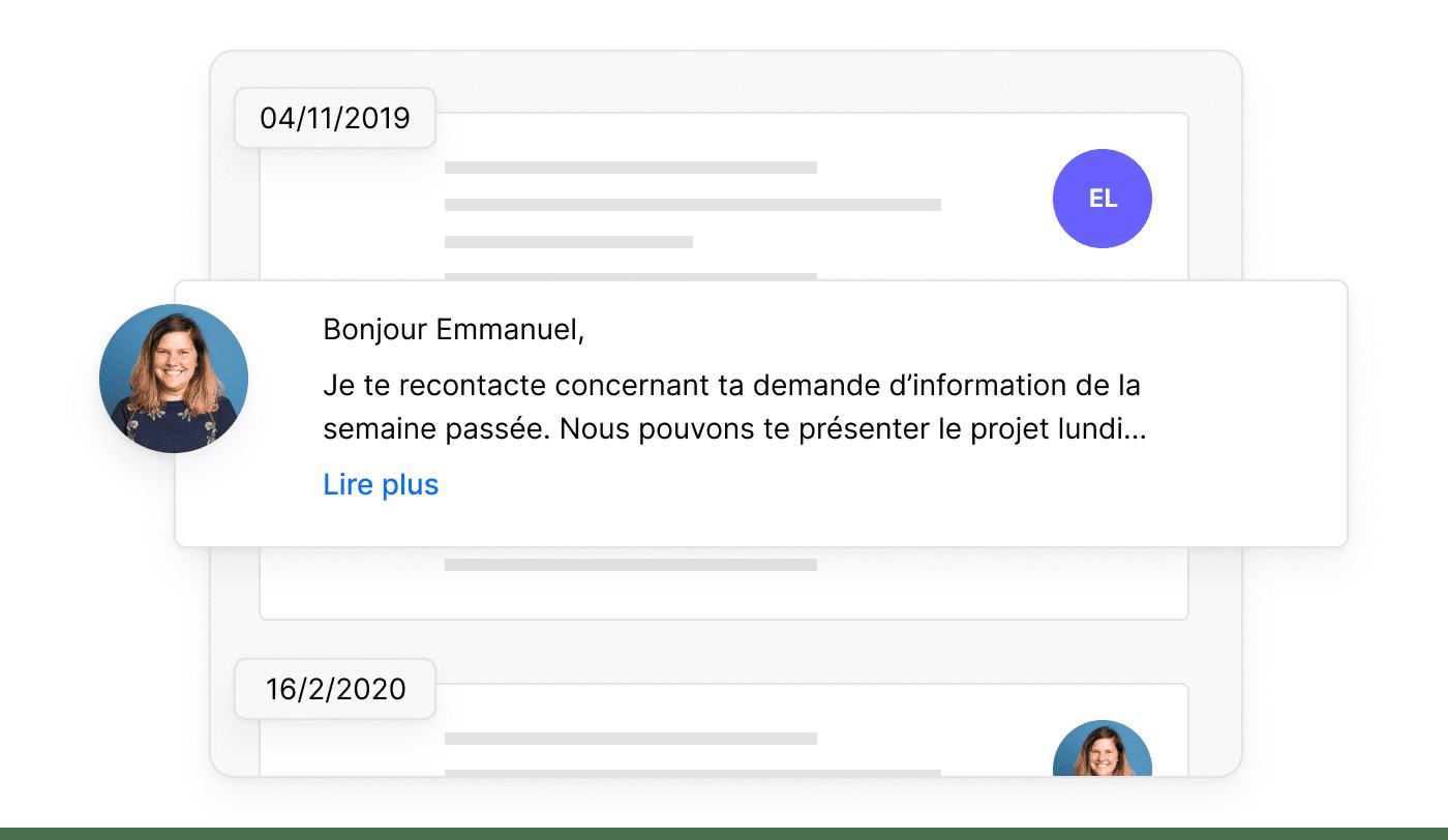 FR FR De communicatiegeschiedenis per klant